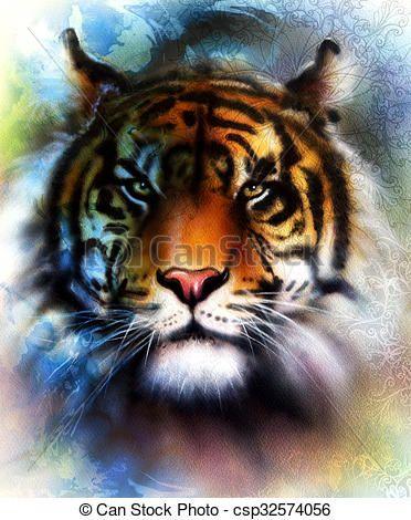 Resultado de imagen para cuadros de tigres