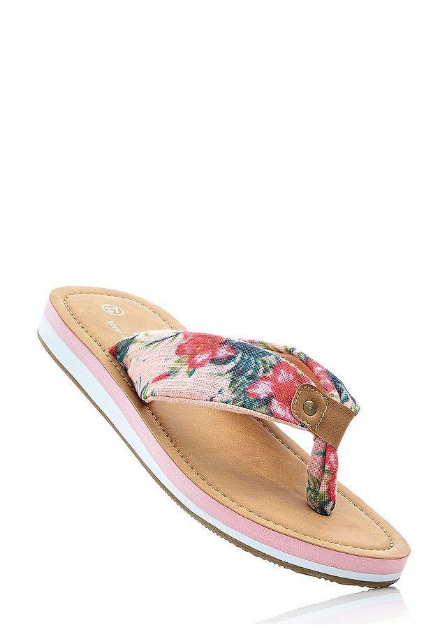 Klapki Japonki Z Paskiem W Kwiatowy 59 99 Zl Bonprix Mule Shoe Slippers Shoes