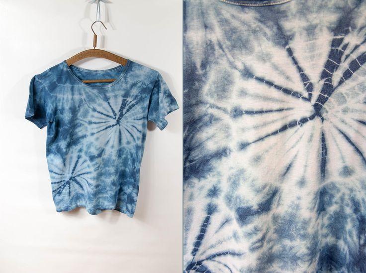 Vintage T-shirt, tie dye t shirt, tie dye T-shirt, tie dye vintage, blue tie dye, t shirt tie dye, vintage tie dye, blue T-shirt by VintageEuropeDesign on Etsy