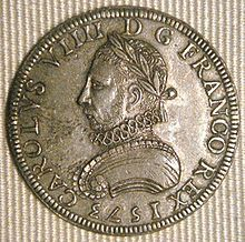 Coin of Charles IX King of France 1573