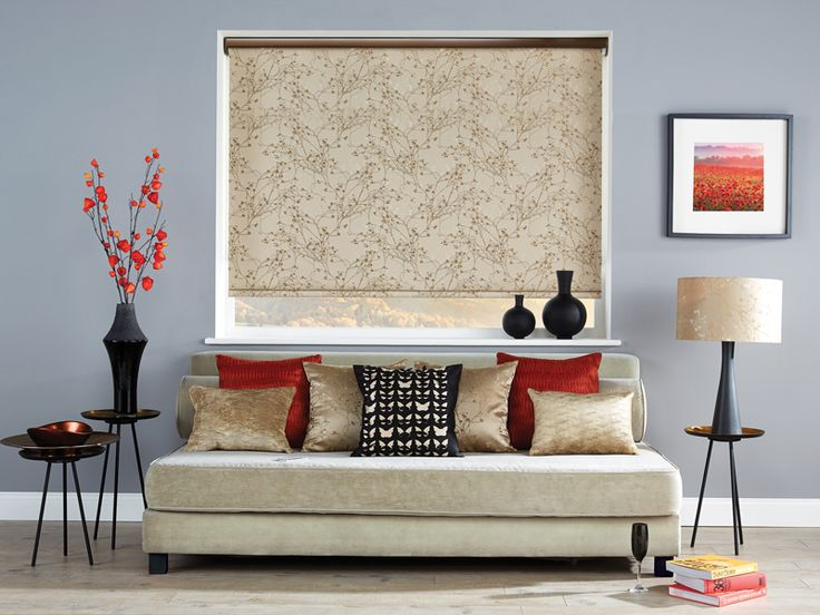The gorgeous Collina Roller Blind in Antique Gold goes great with this seasons metallics #RollerBlinds
