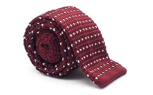 The Sedgewick Burgundy & Triangles Knit Tie