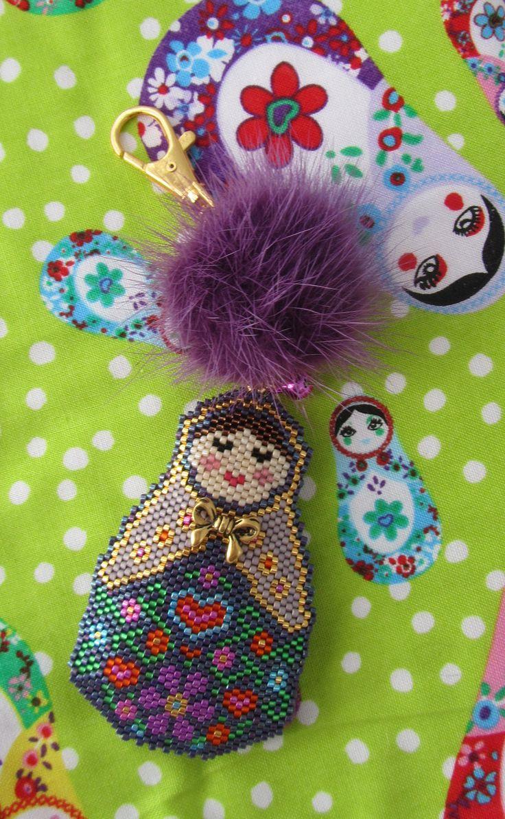 Matryoshka (Russian Doll) Charm Peyote/Brick Stitch PDF Pattern
