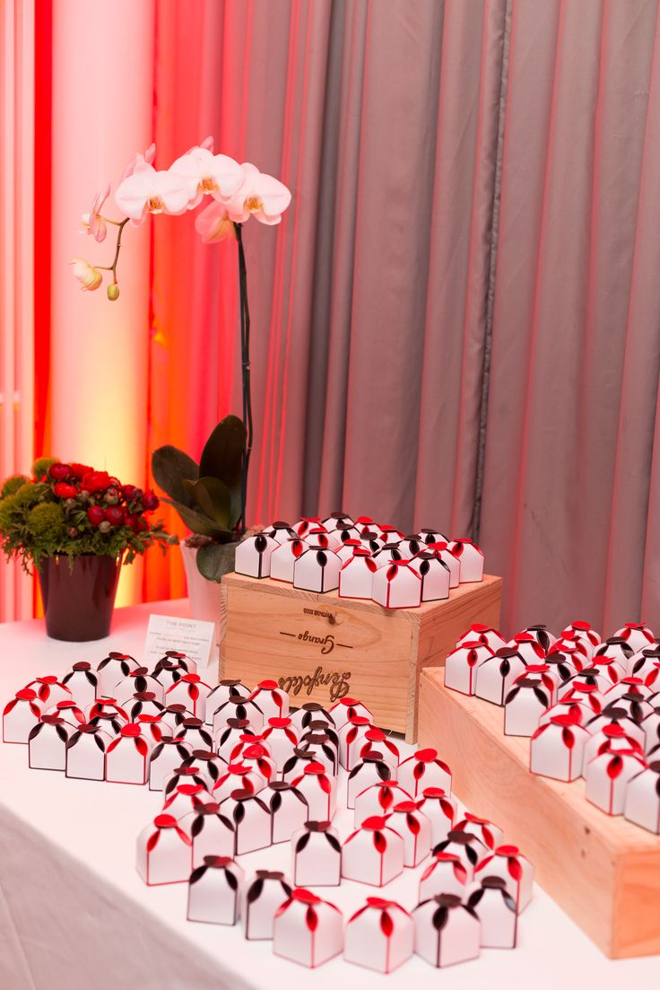 Handmade by our expert Pastry Chef, guests took home petits fours to savour