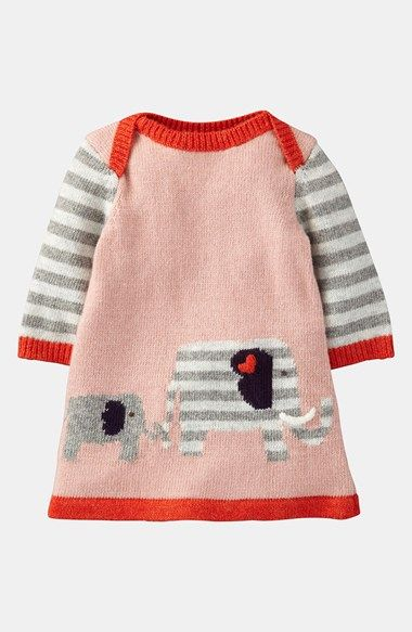 Mini Boden 'My Baby' Knit Dress (Infant)