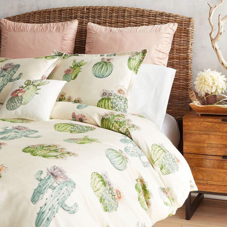 Painted Cactus Duvet Cover Sham Pier 1 Imports Duvet Cover Master Bedroom Luxury Bedding Luxury Bedding Sets