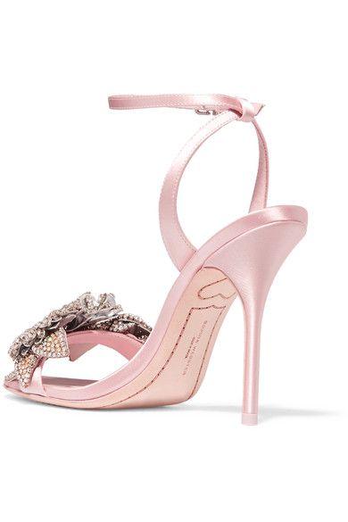 4ccac87f059 Sophia Webster - Lilico crystal-embellished satin sandals   Products ...