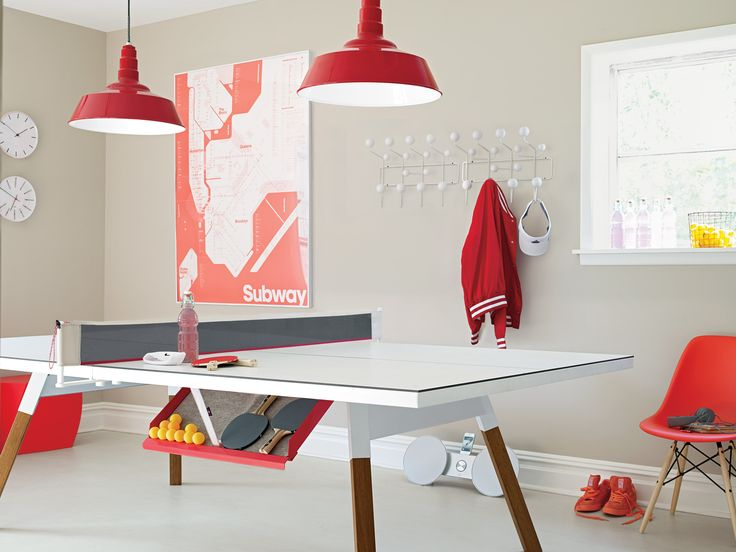This standard-size pingpong table doubles as a large dining table thanks to its removable net. Translation: It's finally OK to play with your food.