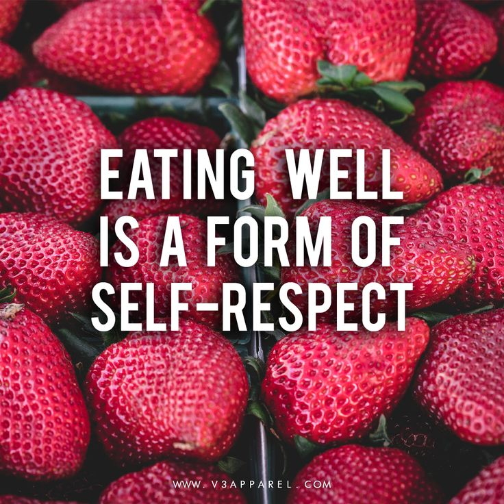 "Healthy eating motivation - ""Eating well is a form of self-respect"" // Free Motivational Posters to help you keep on track @ www.V3Apparel.com for more! // Diet, weight loss & clean eating inspo"
