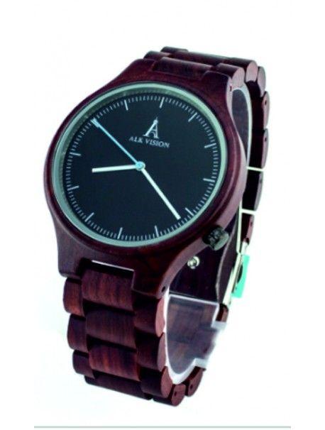Stylowy zegarek na rękę - ALK VISION Indeks:  DH00012 -Black Dial Male Stan:  Nowy produkt  Stan:  In Stock   Elegancki drewniany zegar z unikalnej konstrukcji. Dar pasuje do mężczyzny i kobiety. Zegarki są wykonane z naturalnych materiałów, bez sztucznych barwników.