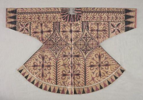 Jacket Indonesia, Sulawesi (Celebes), 19th century Medium: tapa cloth, printed