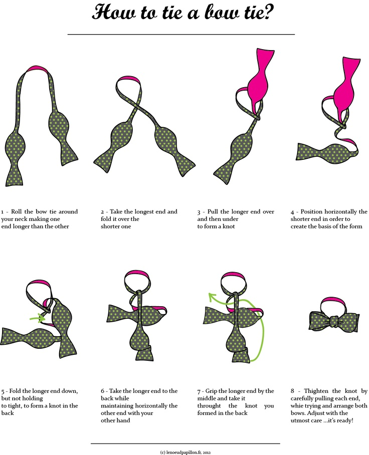 Tying A Tie Step By Step: 19 Best Images About How To Tie A Bow Tie On Pinterest