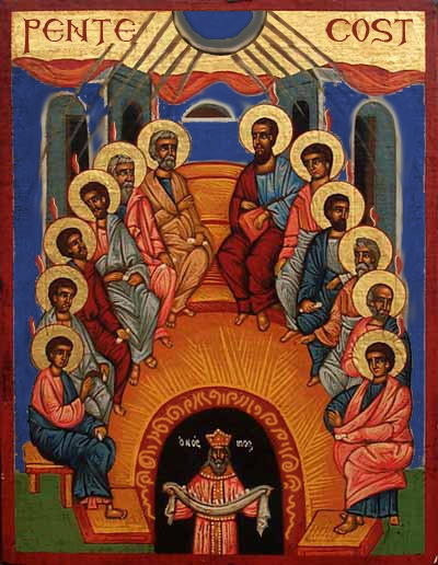 pentecost icon explanation