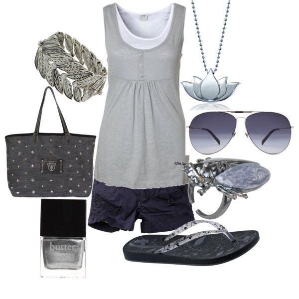 silver summer by lagu on Polyvore featuring ESPRIT, IPANEMA, Dimitris Zoz, Dorothy Perkins, Vernissage, Alex Woo, Alexander McQueen and Butter London
