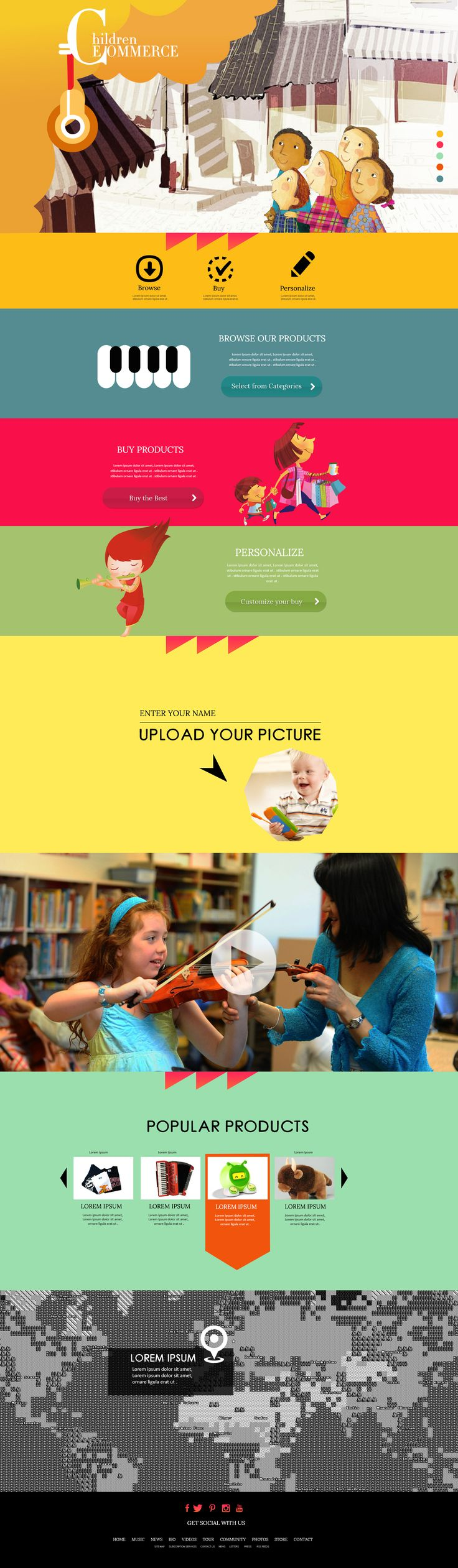 | Children E commerce Design Concept |