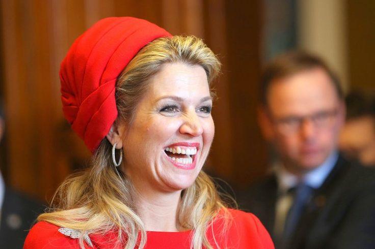 Lachen ist hält gesund. Die Fröhllichkeit von Königin Maxima ist ansteckend