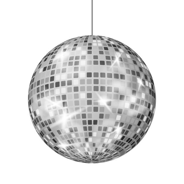 Silver Disco Ball Vector Dance Night Club Retro Party Classic Light Element Silver Mirror Ball Disco Design Isolated On White Background Illustration Ball Dis Trong 2020