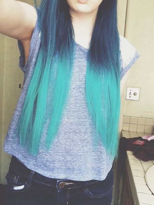 Ombre teal blue pretty cute gorgeous awesome amazing cute ...
