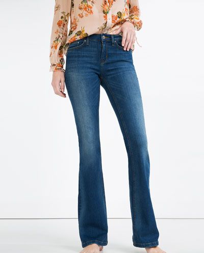 MID-RISE FLARED JEANS-View All-JEANS-WOMAN | ZARA United States