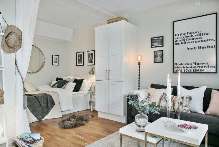 Kleine Raumdeko: Bett im Wohnzimmer - dekoration ideen in ...