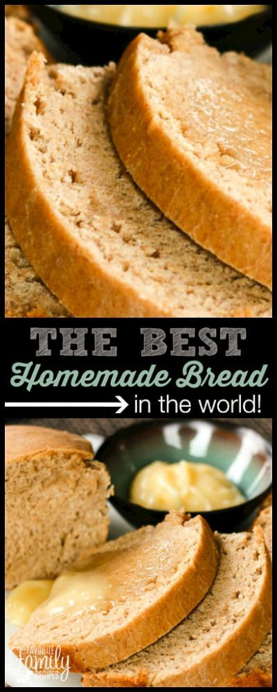 This Honey Wheat Homemade Bread is my absolute favorite because it is so moist and doesn't fall apart. I smother it with honey butter when it's hot! via @favfamilyrecipz
