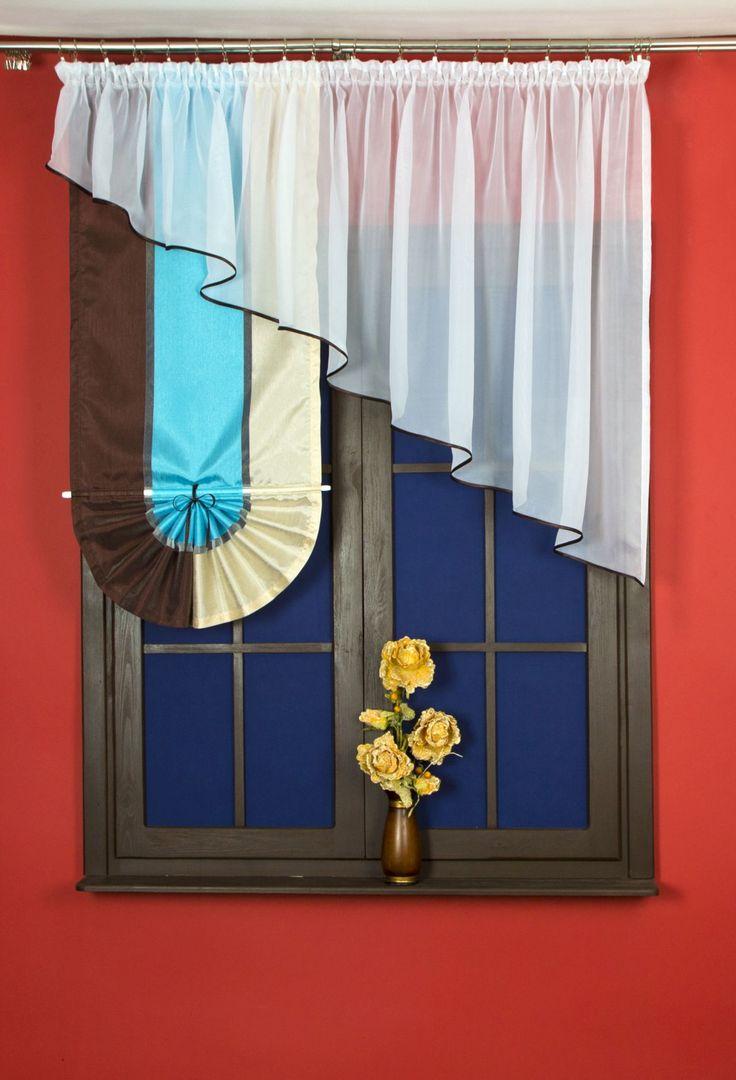 #Firanka_z_panelem 1400 x 300 cm  Materiał woal i tkanina zasłonowa z wysokiej jakości materiału.    Wszyta taśma marszcząca 1:2, dzięki której łatwo dostosujesz firankę do pożądanego rozmiaru.    Piękny komplet, który sprawdzi się jako firana do salonu, kuchni czy pokoju. kasandra.com.pl