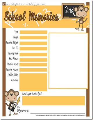 FREE School Memory Pages for elementary Kids #scrapbooking #backtoschool #free