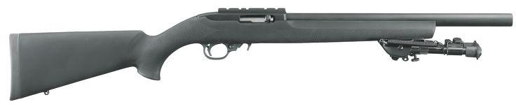 """Ruger 1230 10/22 Target Tactical SA 22 LR 16.12"""" 10+1 Hogue OverMolded Stk Blk"""