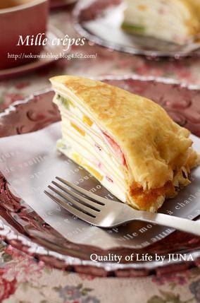チーズクリーム&フルーツのミルクレープ|レシピブログ