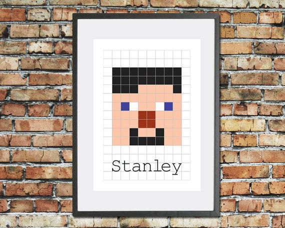 Personalised video game name print Kids by TheHappyCotswoldCo
