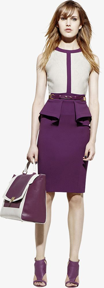 The color, the shoes, the bag, the dress..I'm in love  ELIE SAAB - Ready-to-Wear - Resort 2013