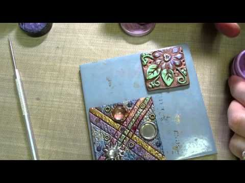 ▶ Clay Art Tile Tutorial Part 2 - YouTube
