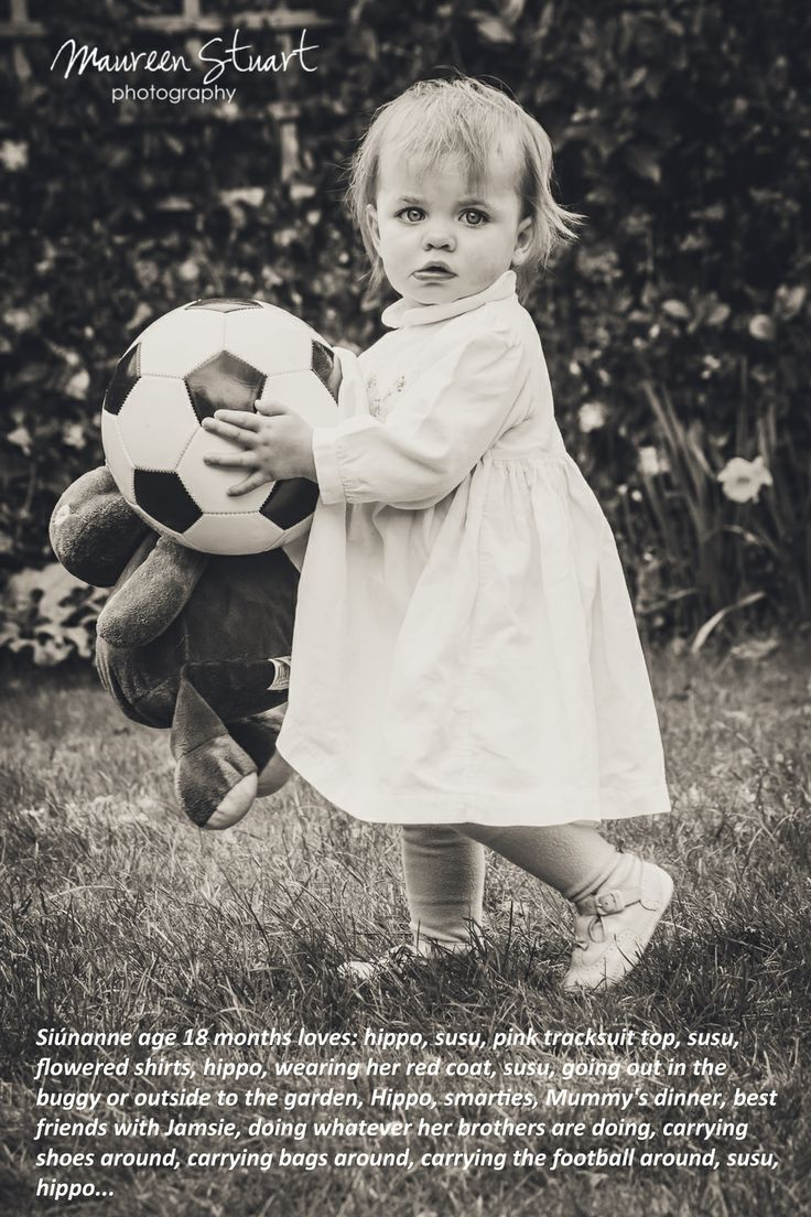 Two of this little girl's favourite things...her hippo and her football... I love the juxtaposition of the dress and the soccer ball, I reckon she will become a great soccer player. www.maureenstuartphotography.com