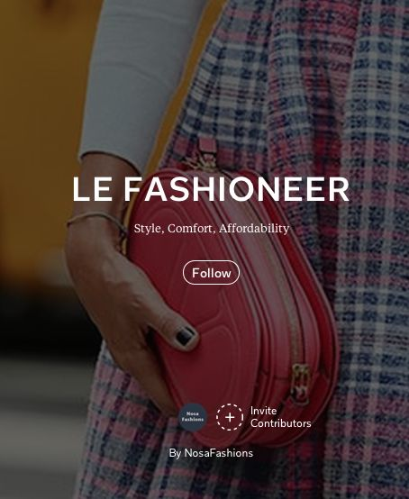 Le Fashioneer magazine is a new magazine by NosaFashions. This is also a magazine on fashion trends, business of fashion, fashion videos, celebrities, and recommended items.