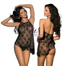 Sexy women floral lace sleepwear lingerie hot sexy lingerie sexy transparent nighties  Best buy follow this link http://shopingayo.space