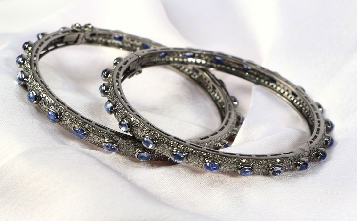 Bangles with Diamond and Sapphire