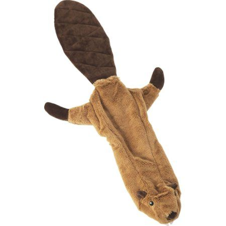 Spot Mini Skinneeez Plush Stuffing Free Beaver Dog Toy 14 Inch