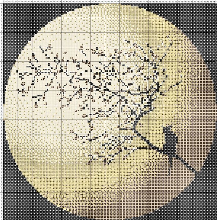 Free Cross Stitch Pattern Moon Cat | DIY 100 Ideas