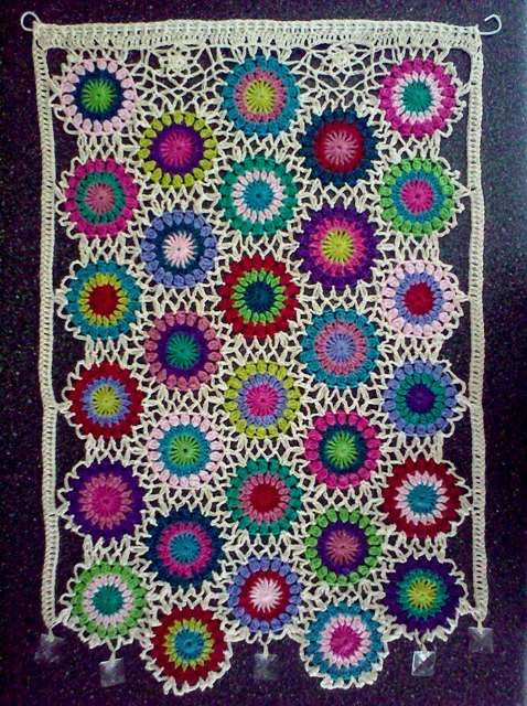Another cute Crocheted Curtain!
