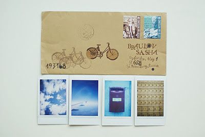 FISH MAIL ART: мэйл-арт конверты, объекты и открытки наси коптевой и саши браулова: instant