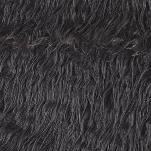 Fake long haired fur grey - Stoff & Stil