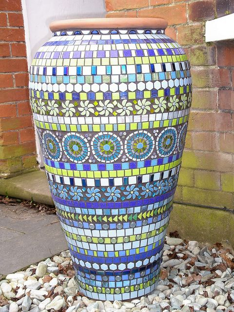 Blue mosaic ali baba pot by BLUE DOG JEWELLERY, via Flickr