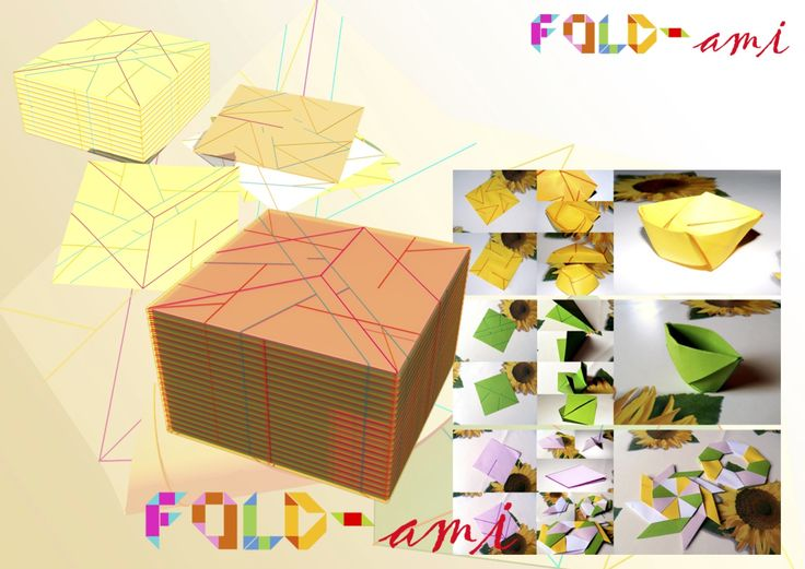 A project of a simple kit for party inspired by Origami. Every line colored differently suggest you how to create a cup, a glass, or a decoration for party...the name is FOLD-ME!!!