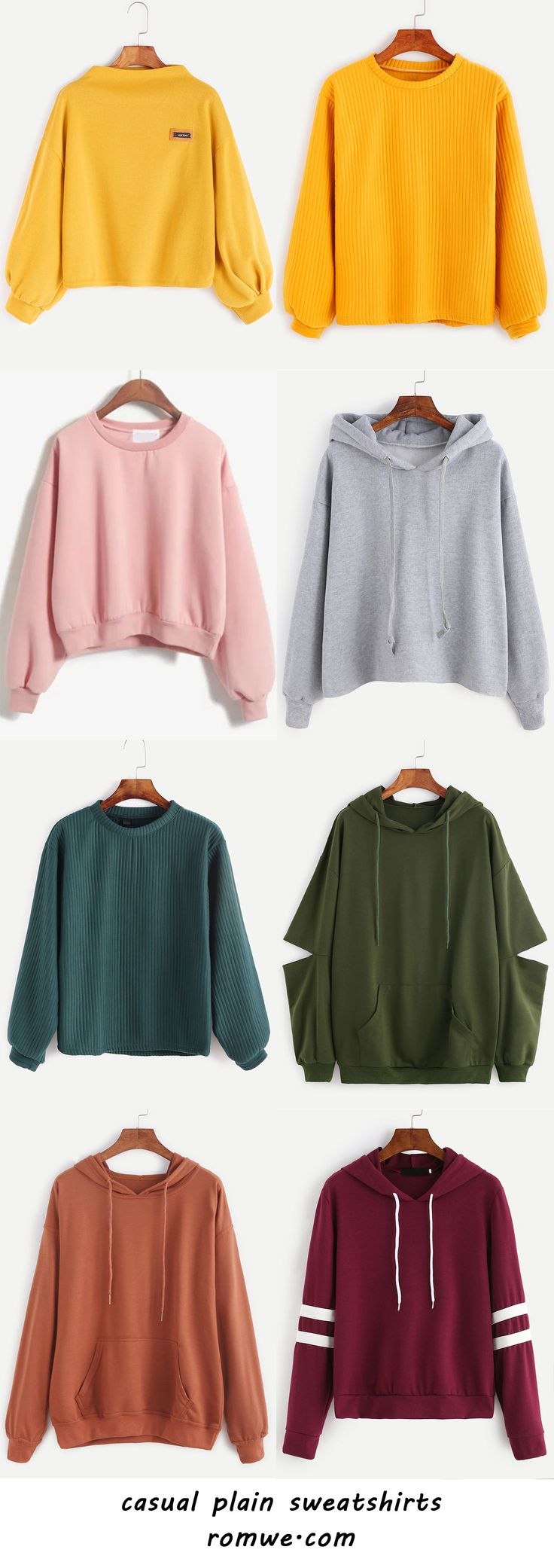 plain sweatshirts with great material and reasonable price from romwe.com