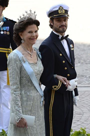 Brautmutter Königin Silvia und Prinz Carl Philipp
