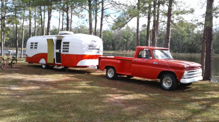 1965 Avion 25' COMBO with 1965 Chevy C10 Complete interior and exterior strip down. Open floor plan. Park layout. No toilet to worry about dumping (gross). New wood and Laminate floors. All new...