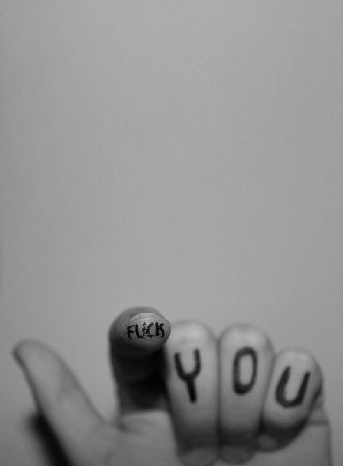 fuck you …