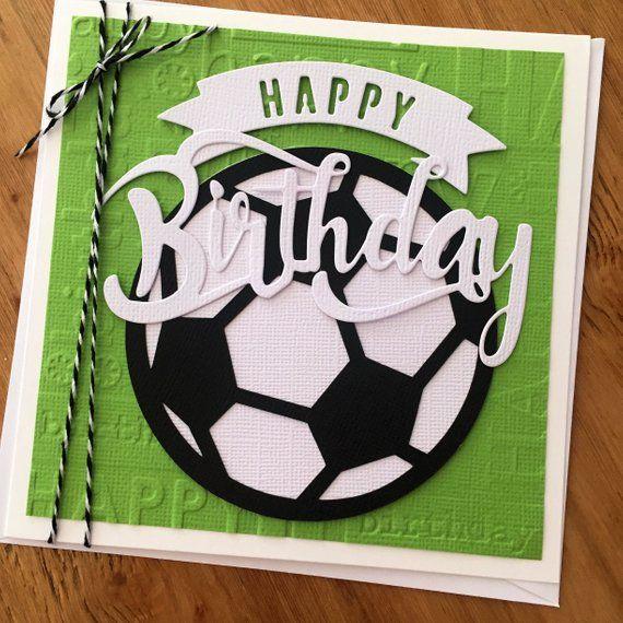 Soccer Birthday Card Soccer Ball Football Happy Birthday Happy Birthday Cards Birthday Cards For Boys Birthday Cards