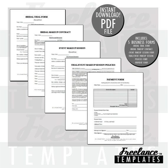 Freelance Makeup Artist Contracts Essential by freelancetemplates