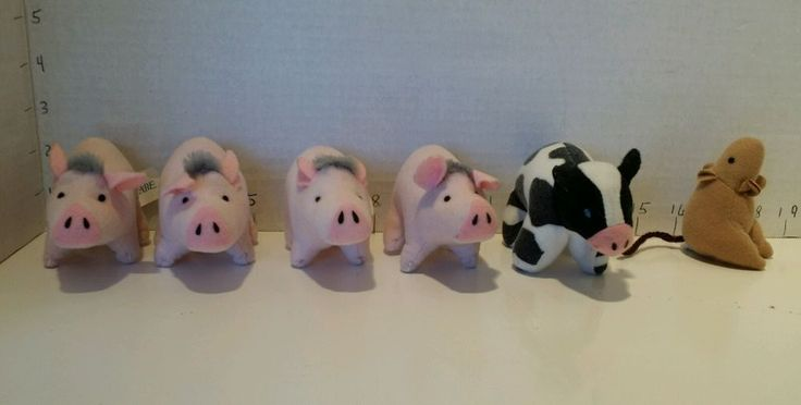 McDonald's Happy Meal Toys Babe 1995 McD Fast Food Toy plush pig cow mouse lot 6   Toys & Hobbies, Fast Food & Cereal Premiums, Fast Food   eBay!